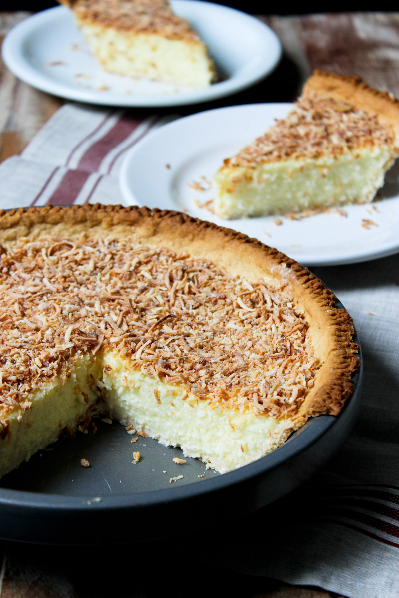 Coconut Custard Pie | Torta cremosa de coco ralado | Cozinha Legal Recipes
