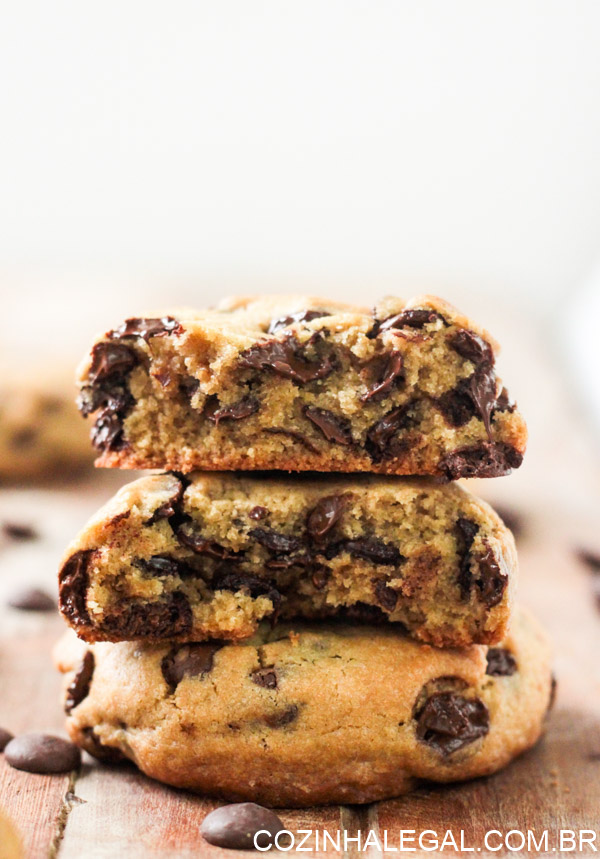Super cookies com gotas de chocolate | Cozinha Legal